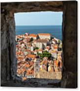 City Of Dubrovnik, The Pearl Of The Mediterranean Sea Canvas Print