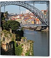 City Of Porto In Portugal Picturesque Scenery Canvas Print