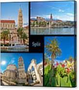 City Of Split Nature And Architecture Collage Canvas Print