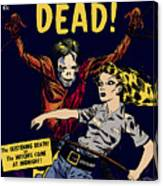 City Of The Living Dead Comic Book Poster Canvas Print
