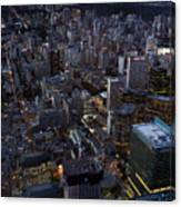 City Of Toronto Downtown After Sunset Canvas Print