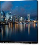 City Of Vancouver British Columbia Canada Canvas Print
