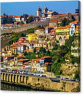 City On A Hillside Canvas Print