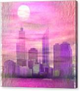 City On Night View Canvas Print
