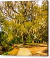 City Park New Orleans - Paint Canvas Print