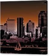 City Sailin 2 Canvas Print