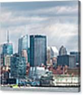 City - Skyline - Hoboken Nj - The Ever Changing Skyline Canvas Print