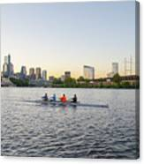 City Skyline - Philadelphia On The Schuylkill River Canvas Print