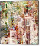 City Snowstorm Canvas Print