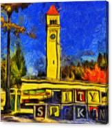 City Spokane - Riverfront Park Canvas Print