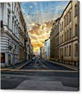 City Street View Canvas Print