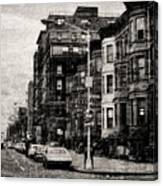 City Streets In Grunge Canvas Print