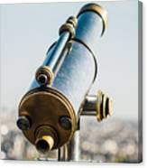 City Telescope Canvas Print