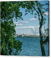 City Through The Trees Canvas Print