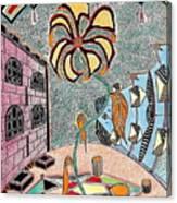 Cityflower Canvas Print