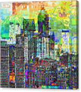 Cityscape Art City Optimist Canvas Print