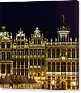 Cityscape In Brussels Europe - Landmark Of Brussels, Belgium Canvas Print