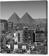 Cityscape Of Cairo, Pyramids, Egypt Canvas Print