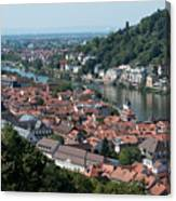 Cityscape  Of Heidelberg In Germany Canvas Print