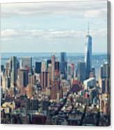 Cityscape View Of Manhattan, New York City. Canvas Print