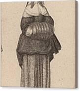 Ciuis Aut Mercatoris Antuerpiensis Vxor Canvas Print