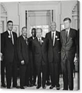 Civil Rights Leaders And President Kennedy 1963 Canvas Print