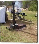 Civil War Camp Stove And Mess Canvas Print