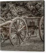 Civil War Cannon And Limber Canvas Print