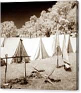 Civil War Encampment - Infrared Canvas Print