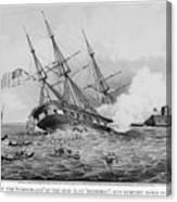 Civil War: Merrimac (1862) Canvas Print