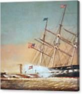 Civil War Merrimack 1862 Canvas Print