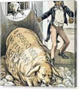 Civil War Pensions, 1888 Canvas Print