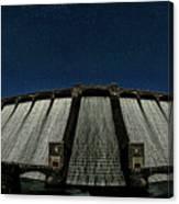 Claerwen Reservoir In Moonlight Canvas Print