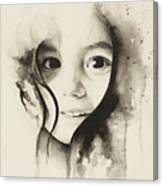 Claire Black And White Canvas Print