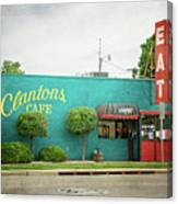 Clanton's Cafe Canvas Print