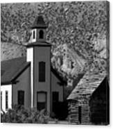 Clapboard Church 1898 Canvas Print