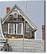 Clapboards And Tar Paper Canvas Print