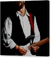 Clapton With Red Strap Canvas Print