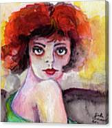 Clara Bow Vintage Movie Stars The It Girl Flappers Canvas Print