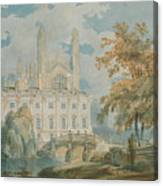 Clare Hall And Kings College Chapel, Cambridge  Canvas Print