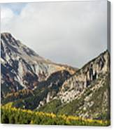Claree Valley In Autumn - 12 - French Alps Canvas Print