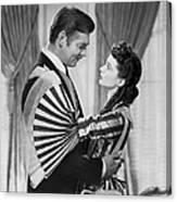 Clark Gable And Vivien Leigh Canvas Print