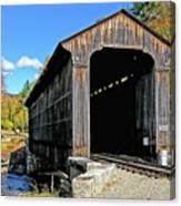 Clark's Trading Post Railroad Covered Bridge Canvas Print