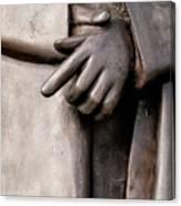 Clasped Hands - Sculpture Garden Nola Canvas Print