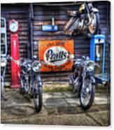 Classic British Bikes Canvas Print