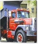 Classic Brockway Dump Truck Canvas Print