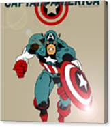 Classic Captain America Canvas Print