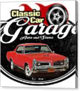 Classic Car Garage With Gto Canvas Print