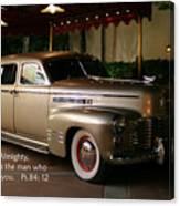 Classic Car Psalm Eighty Four Vs Tweleve Canvas Print