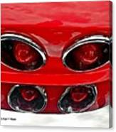 Classic Car Tail Lights Reflection Canvas Print